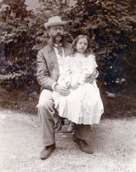 Emil Jellinek se svojí dcerou Mercedes.