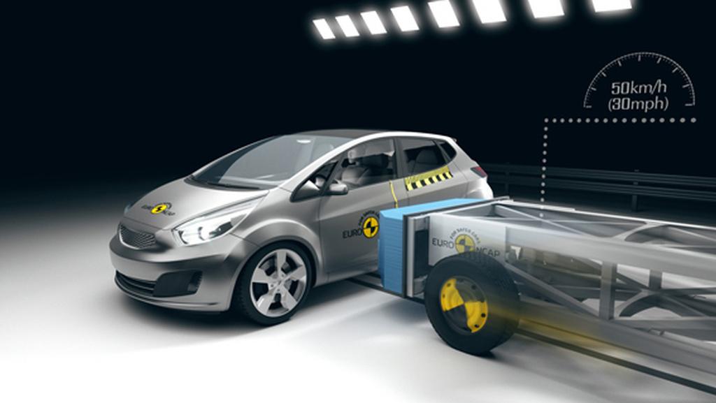 schema testu boèního nárazu Euro NCAP
