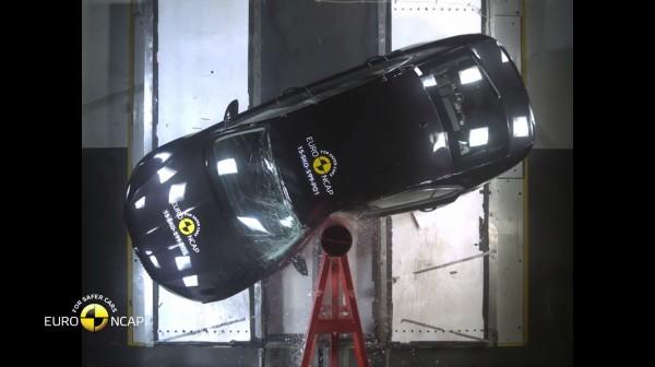 Škoda Superb při testu Euro NCAP 2015