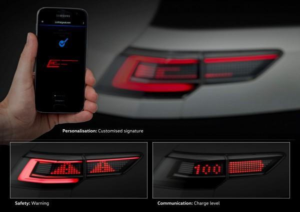 Interaktivní světlomety VW - ukázka individualizace