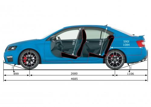 rázvor náprav Škoda Octavia III