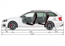 rozvor náprav Škoda Octavia Combi III