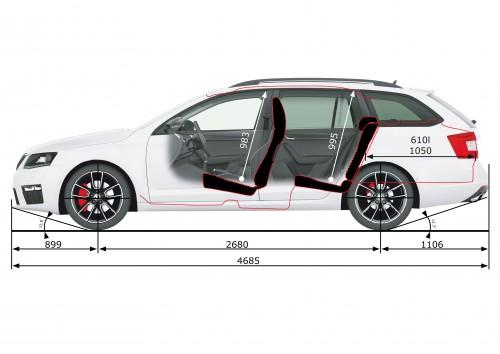 rázvor náprav Škoda Octavia Combi III